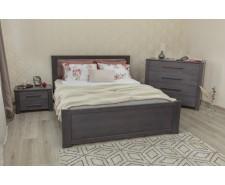 Ліжко дерев'яне двоспальне Оксфорд (Oxford) (Бук, щит)