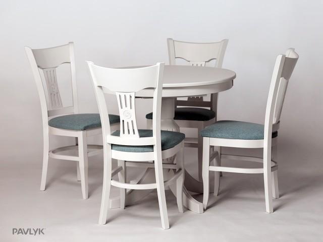 """Дерев'яний стіл """"Амфора (Amphora)"""" Круглий (бук) 90+40 см"""