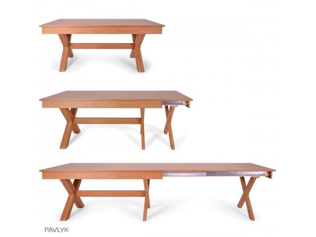 """Дерев'яний стіл """"Брідж 1 (Bridge 1)"""" (дуб)  180+40+40+40+40 см"""