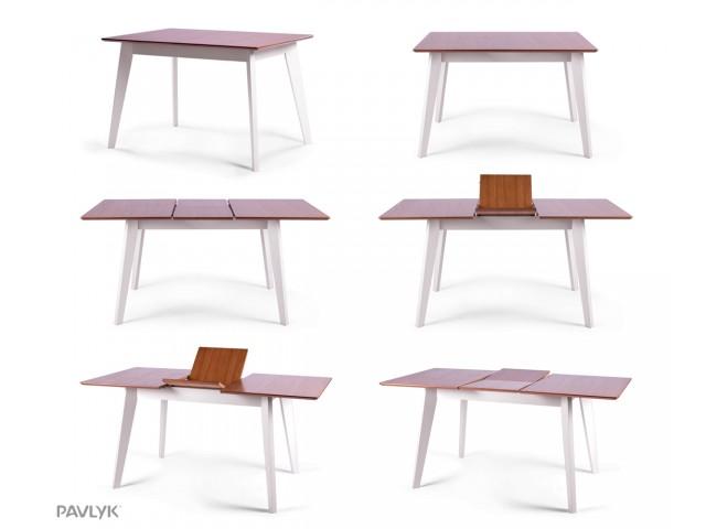 """Дерев'яний стіл """"Мілан (Milano)"""" (бук) 120+40 см"""