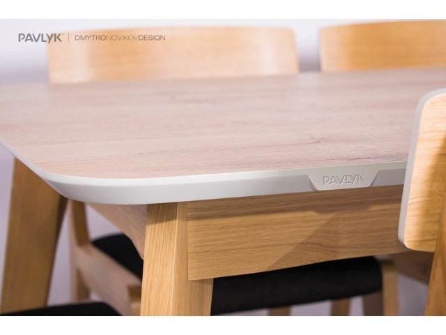 """Дерев'яний стіл """"Орі (Ori)"""" (дуб) 160+40 см"""