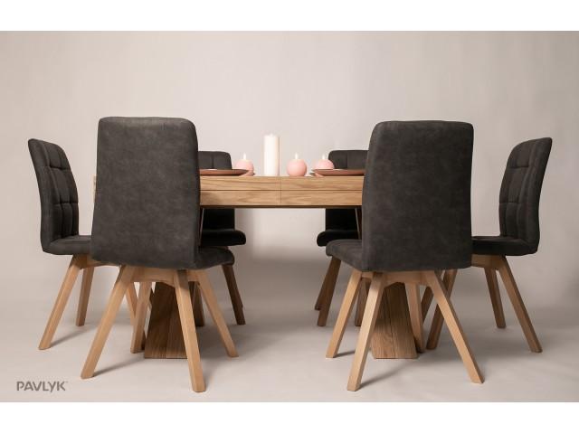 """Дерев'яний стіл """"Шанхай (Shanghai)"""" (дуб) 150+50+50+50+50 см"""