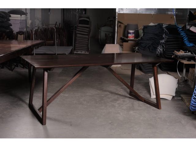 Сучасний обідній стіл «Блум» (140 х 80 см, 200 х 100 см) з міцного масиву бука