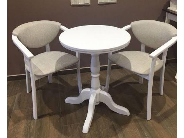Компактний стіл «Гірне 05» (D – 60 см) з масиву бука