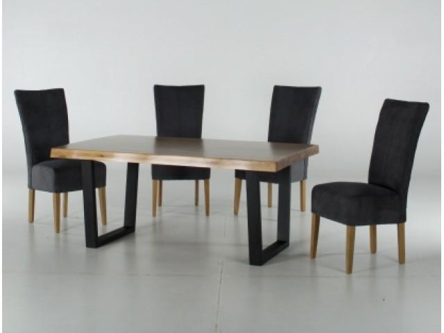 Обідній стіл «Кьольн» (160 х 100 х 74 см) з бука та з металевими ніжками у стилі лофт