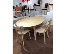 Розсувний круглий стіл «Моніка» (D-120+40 см) з масиву бука