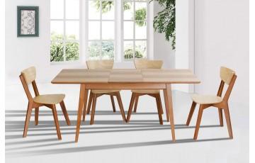 Деревянный раскладной стол Рондо из массива ясеня
