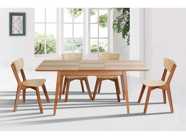 Дерев'яний розкладний стіл Рондо з масиву ясеня