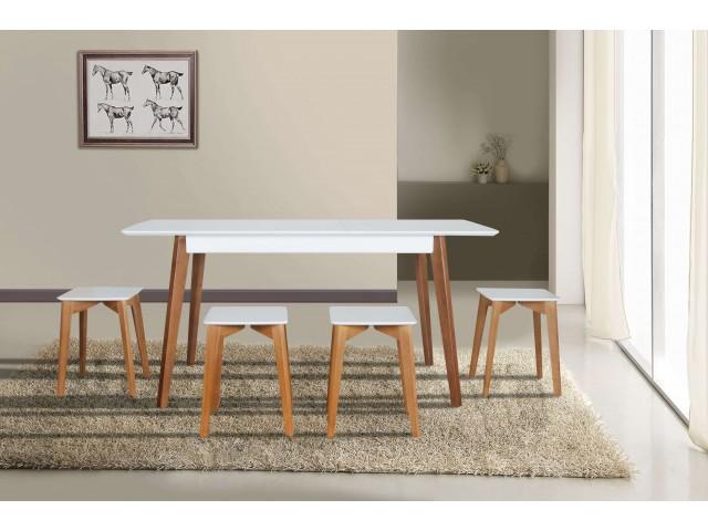 Сінгл — обідній розкладний стіл з масиву ясеня