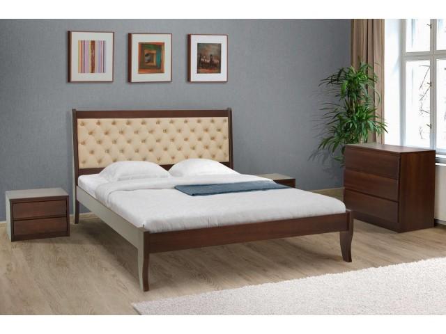 Ліжко Монтана з м'якою спинкою: витонченість класики