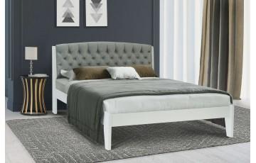 Вірджинія: комфортне ліжко з масиву дерева і м'яким надголів'ям