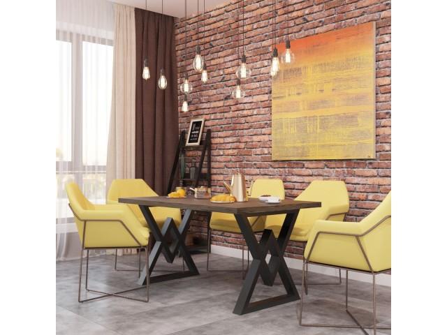 Астон - сучасний обідній стіл з дерева та металу (Loft)