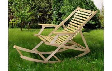 Розкладне дерев'яне крісло-гойдалка шезлонг Пікнік