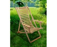 Розкладне дерев'яне крісло шезлонг Пікнік