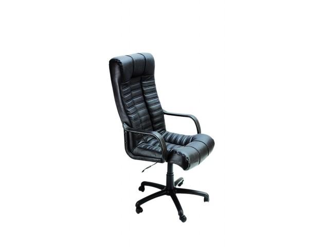 Кресло Атлантис Пластик Кожа Сплит черная