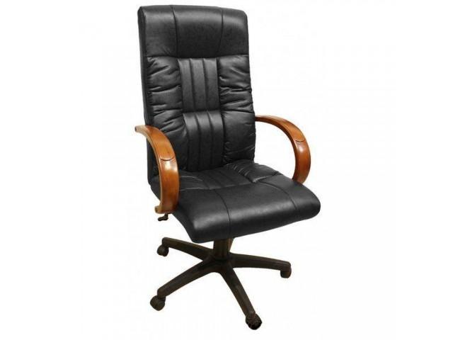 Кресло Консул НВ, кожзам черный (622-B HIGH-BACK BLACK PU+PVC ,HL018 MECH)