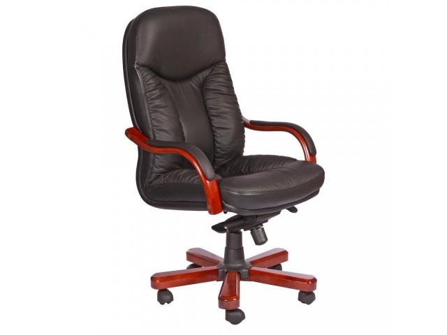 Кресло Буффало НВ, кожа черная (6231-B BLACK LEATHER+PVC)