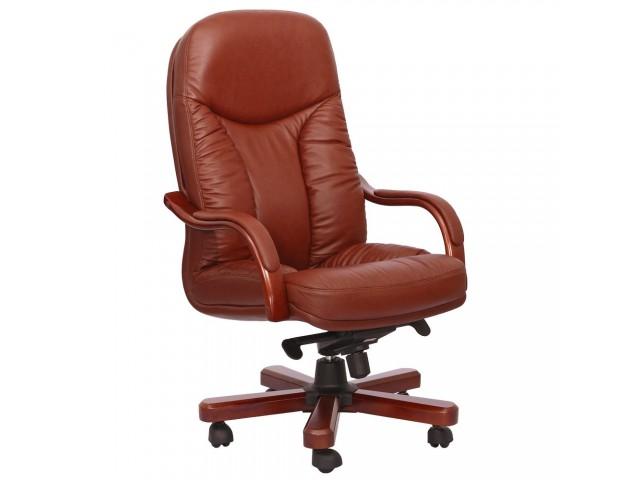 Кресло Буффало НВ, кожа коричневая (6231-B BROWN LEATHER+PVC)