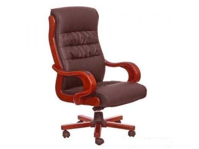 Кресло Президент 03 HB кожа коричневая (J-1002 Leather Brown)
