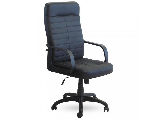 Кресло Ледли Пластик Кожа Сплит черная