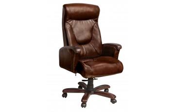 Кресло Галант Механизм DT орех Кожа Люкс комбинированная Темно-коричневая