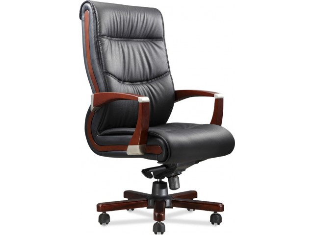 Кресло Монтана НВ, кожа черная (619-B+PVC)