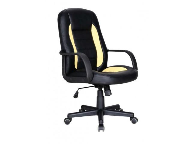 Кресло Дрифт (1699) к/з PU черный/желтые вставки