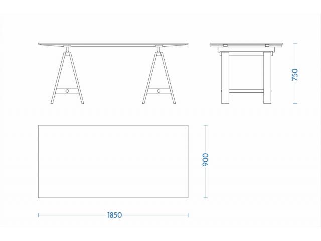 Стіл робочий (офісний) дизайнерський IT LOFT (лімітована серія)