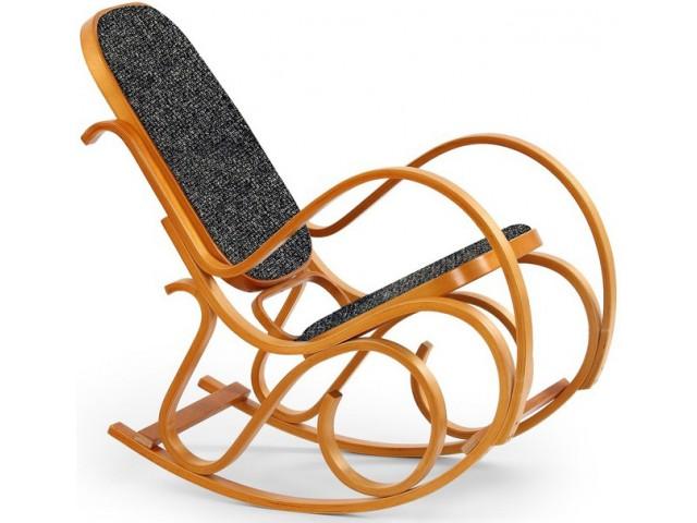 Крісло качалка гнуте дерево Halmar MAX II горіх