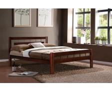 Ліжко дерев'яне двоспальне Альмерія (Вільха), 160*200 см,  узголів'я 98 см