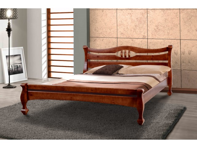 Ліжко дерев'яне двоспальне Дінара (Сосна) 160х200см