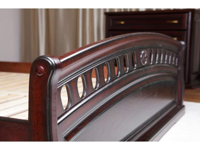Кровать деревянная двуспальная Флоренция (дуб массив) 160х200см Каштан