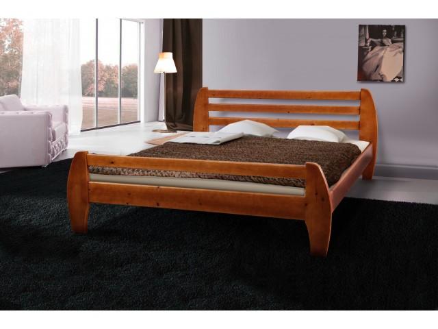 Ліжко дерев'яне двоспальне Galaxy (Сосна)