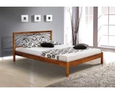Ліжко дерев'яне двоспальне Каріна (Вільха), 160*200 см (ручна ковка)