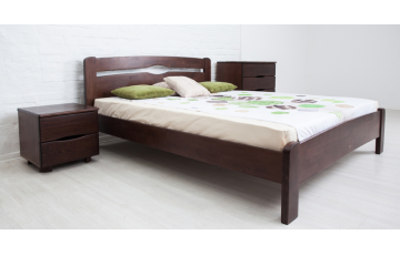 Кровать деревянная односпальная / полуторная / двуспальная Каролина (бук) без изножья