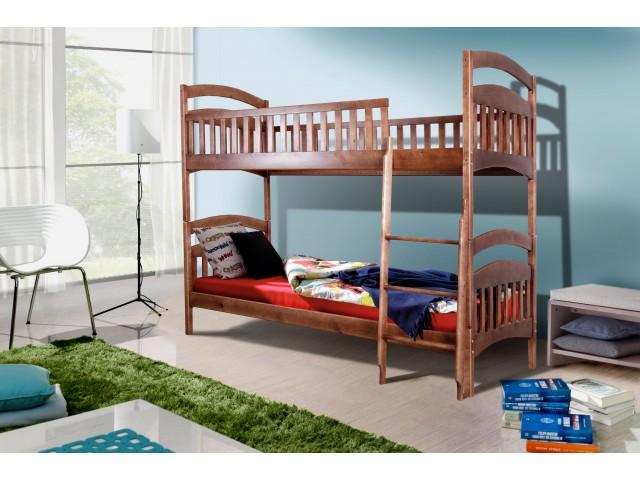 Ліжко дерев'яне двоповерхове Кіра (Сосна) 80х200 см