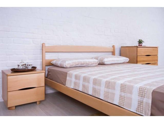 Ліжко дерев'яне односпальне / двоспальне Лікерія (Бук) без узніжжя