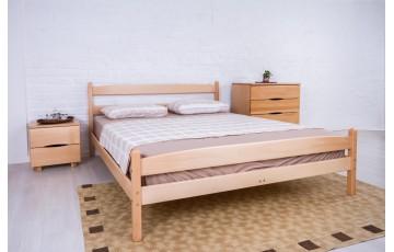 Ліжко дерев'яне одно -двоспальне Лікерія (Бук) з узніжжям (+ящики на вибір)