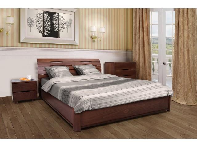 Кровать деревянная полутрная / двуспальная Мария (бук) с подъемным механизмом
