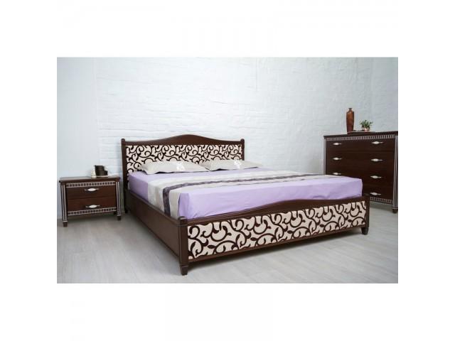 Ліжко дерев'яне полуторне / двоспальне Монблан Прованс (узголів'я 94,4 см, узніжжя 35см)