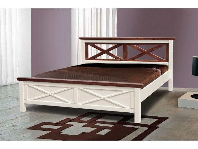 Ліжко дерев'яне двоспальне Нормандія (Сосна)