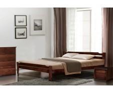 Ліжко дерев'яне односпальне / полуторне / двоспальне Ольга (Вільха), узголів'я 75 см