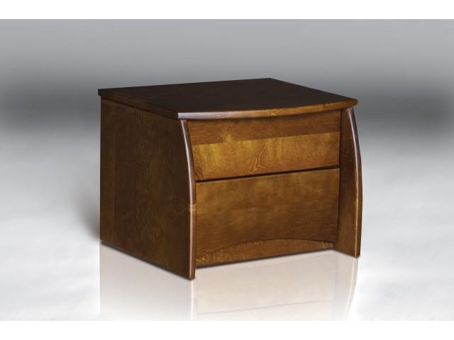 Ліжко дерев'яне двоспальне Ретро (Вільха), 160*200 см,  узніжжя 58 см