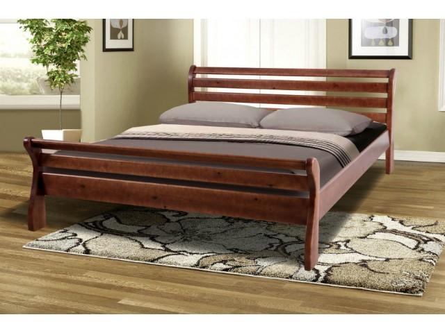 Ліжко дерев'яне двоспальне Ретро-2 (Сосна)