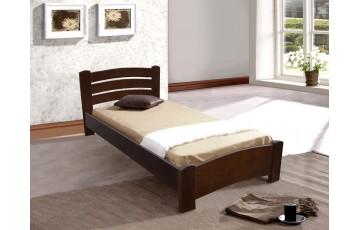 Ліжко дерев'яне односпальне Софія (Ясен), 90*200 см,  узголів'я 82 см