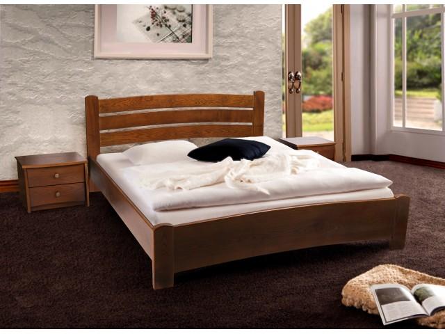 Ліжко дерев'яне двоспальне Софія (вільха) 160*200 см,  узголів'я 82 см