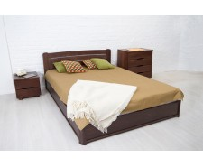 Ліжко дерев'яне полуторне / двоспальне Софія (Бук) з підйомним механізмом або ящиками