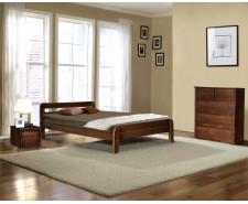 Ліжко дерев'яне двоспальне Стефанія (Ясен), 160*200 см,  узголів'я 75 см