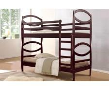 Ліжко дерев'яне двоярусне Вікторія (вільха) 90 (80)*200 см