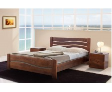 Кровать деревянная двуспальная Вивия (Ясень), 160х200 см, изголовье 82 см